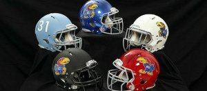U Kansas Football Helmets