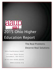 2015 OCAAUP Higher Ed Report