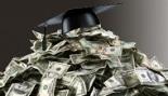 Grad Cap on Top of Dollars