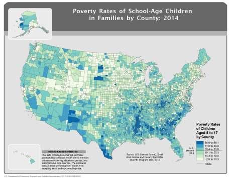 Poverty, School-Age Population, 5-17, 2014