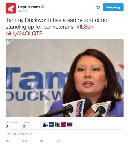 Tweet about Tammy Duckworth