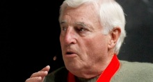 Inductee Bob Knight talks about his career during an induction ceremony into the National Collegiate Basketball Hall of Fame, Sunday, Nov. 20, 2011, in Kansas City, Mo. (AP Photo/Ed Zurga)