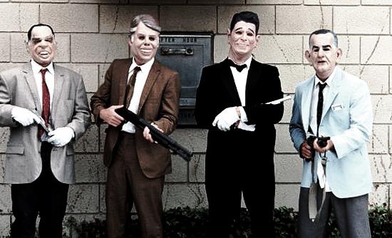 Point Break Gang in Presidents Masks