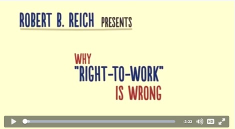 Robert Reich Video on RtW