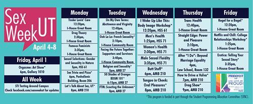 U TN Sex Week Poster