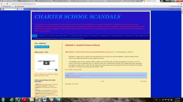 Charter School Scandals Website