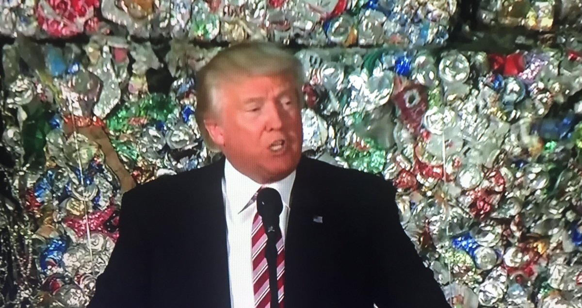 Image result for trump & recycling