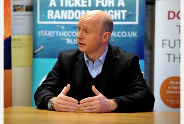 02/03/15 Northampton Liam Byrne MP Shadow Minister for Universities, Science and Skills visited The University of Northampton today