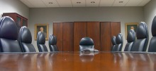 conference room & empty chairs