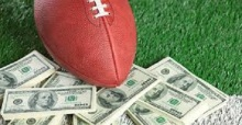 Football on Money and Yard Line