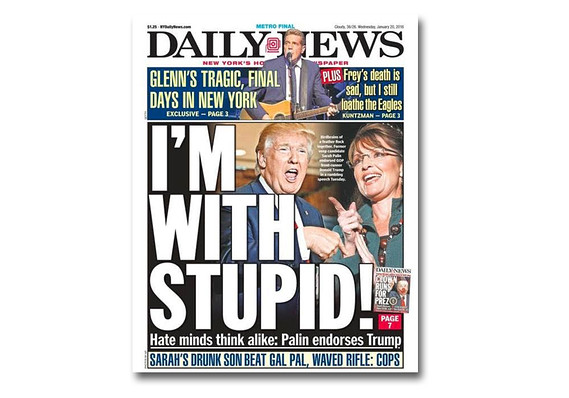 Front Page--New York Daily News