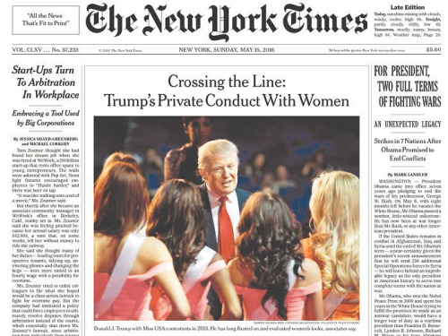 Front Page--New York Times